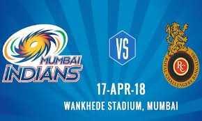 MI vs RCB - INDIKUNEA 17 - APR - 18 WANKHEDE STADIUM , MUMBAI - ShareChat