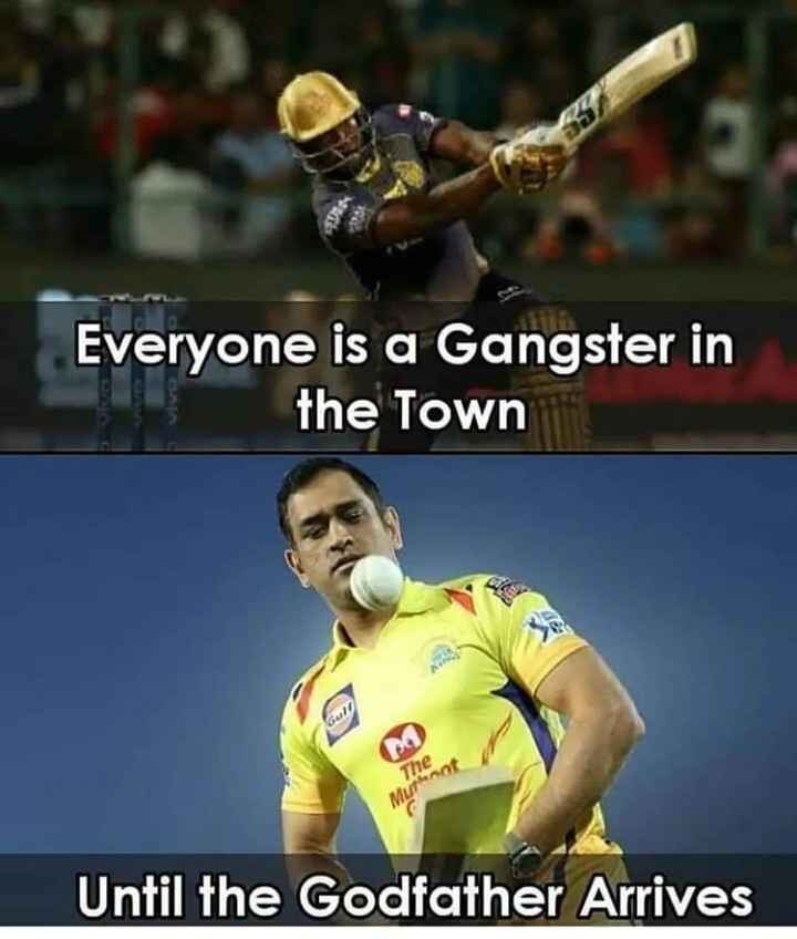 MS ಧೋನಿ - Everyone is a Gangster in the Town Until the Godfather Arrives - ShareChat