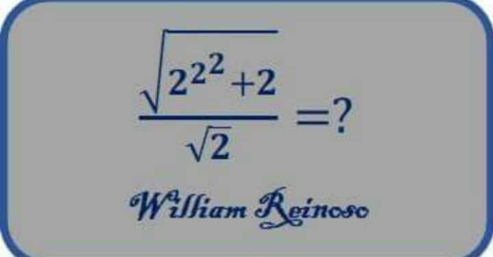 Maths Solution - [ 22² + 2 = ? V2 William Reinoso - ShareChat