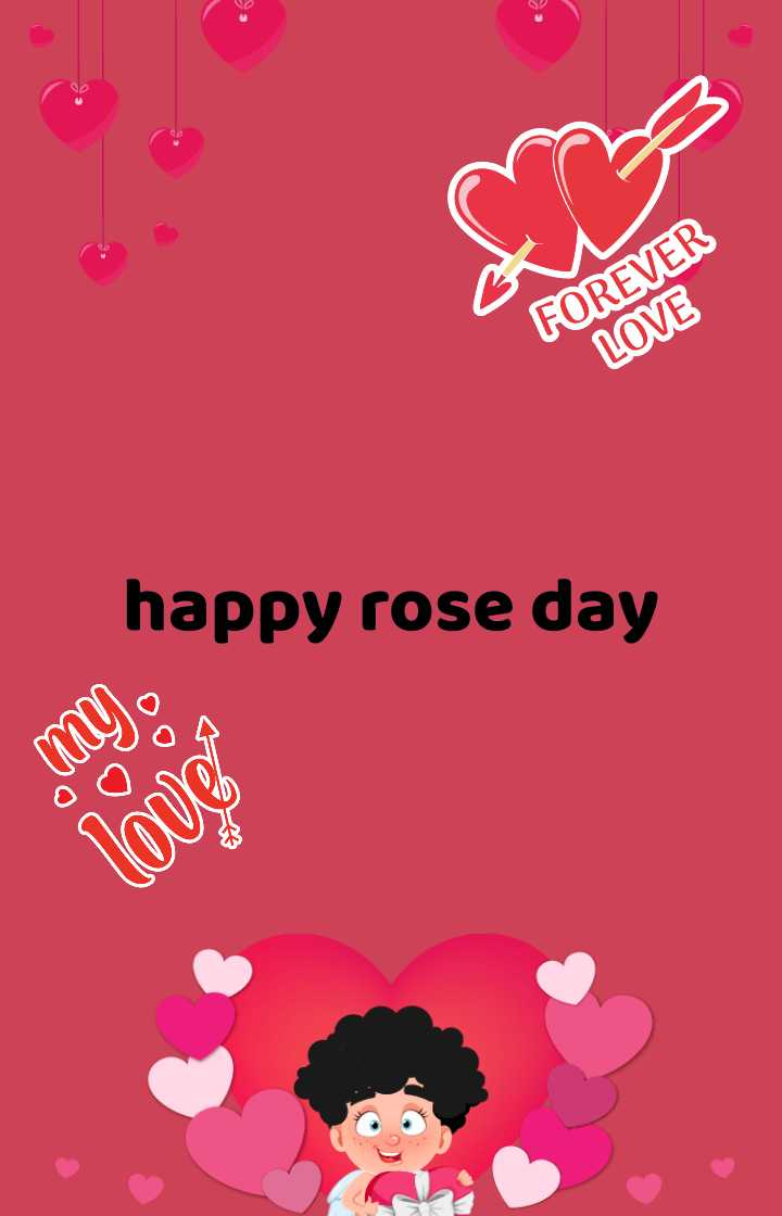 💌Message With Rose🌹 - FOREVER LOVE happy rose day jouer - ShareChat