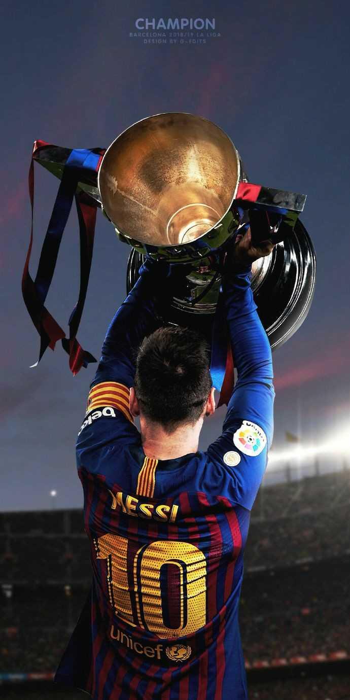 😍 Messi Fans - CHAMPION BARCELONA 2018 / 19 LA LIGA DESIGN BY G - EDITS Unicef - ShareChat