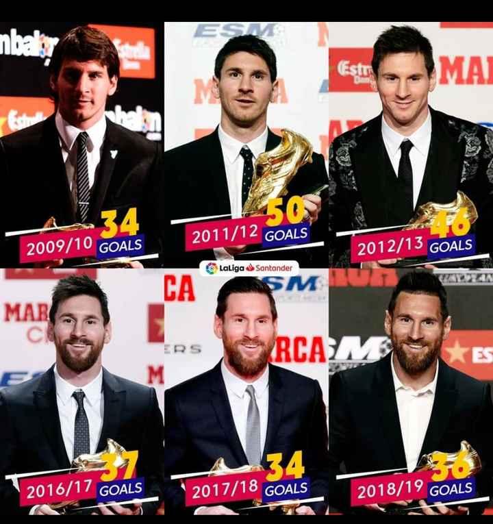 😍 Messi Fans - MA 2011 / 12 GOALS 2009 / 10 GOALS 2012 / 13 GOALS LaLiga Santander CA SM07 MAR ERS SRCA RUA 2016 / 17 GOALS 2017 / 18 GOALS 2018 / 19 GOALS - ShareChat