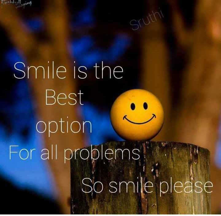 👉 Monday Motivation - Birbi . . ! Sruthi Smile is the Best option For all problems So smile please - ShareChat