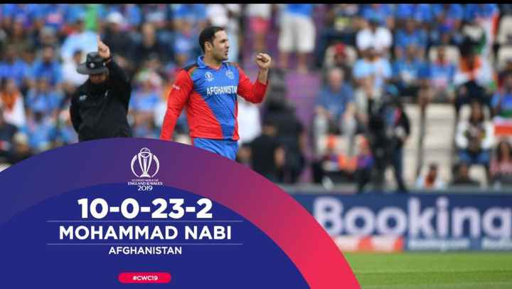 🏆 PAK 🇵🇰 vs AFG 🇦🇫 🏏 - - AFGHANISTA ENGLAND & WALES 2019 10 - 0 - 23 - 2 MOHAMMAD NABI Booking AFGHANISTAN # CWC19 - ShareChat
