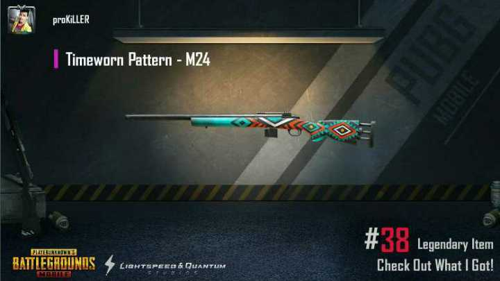 🔫 PUBG - proKİLLER Timeworn Pattern - M24 PLAYERUNKNOWN ' S Legendary Item Check Out What I Got ! BATTLEGROUND TEPEE & QUANTUM - ShareChat