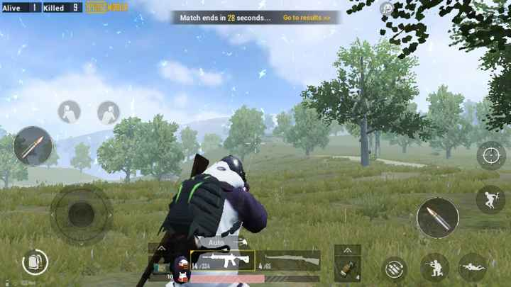 🔫 PUBG 🎮 - Alive 1 Killed 9 DREILJOENE Match ends in 28 seconds . . . Go to results > > Auto 141334 4 . / 65 58 ms - ShareChat