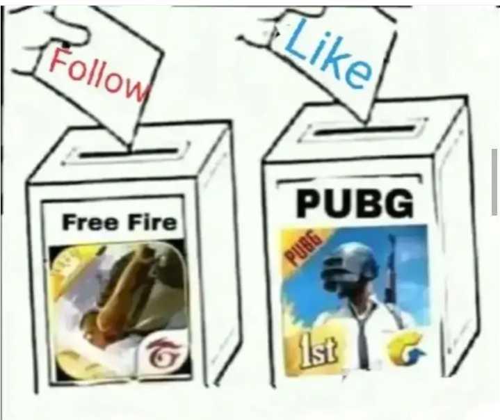 🔫 PubG ✈️ - collow PUBG Free Fire 1st - ShareChat