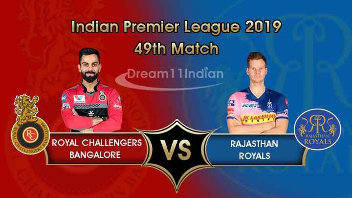 🏏 RCB ❤️ vs RR 💜 - Indian Premier League 2019 49th Match Dream11 Indian WINNI Kai KLAKSHMI QSRS ROYAL ANGALO RAJASTHAN ROYALS CHALL ROYAL CALENCERS ) VS ROYAL CHALLENGERS BANGALORE RAJASTHAN ROYALS ENGERS - ShareChat