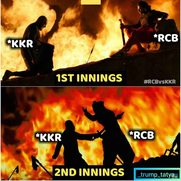 🏏RCB vs KKR - * RCB * KKR 1ST INNINGS # RCBVSKKR * KKR * RCB 2ND INNINGS _ trump _ tatya - ShareChat