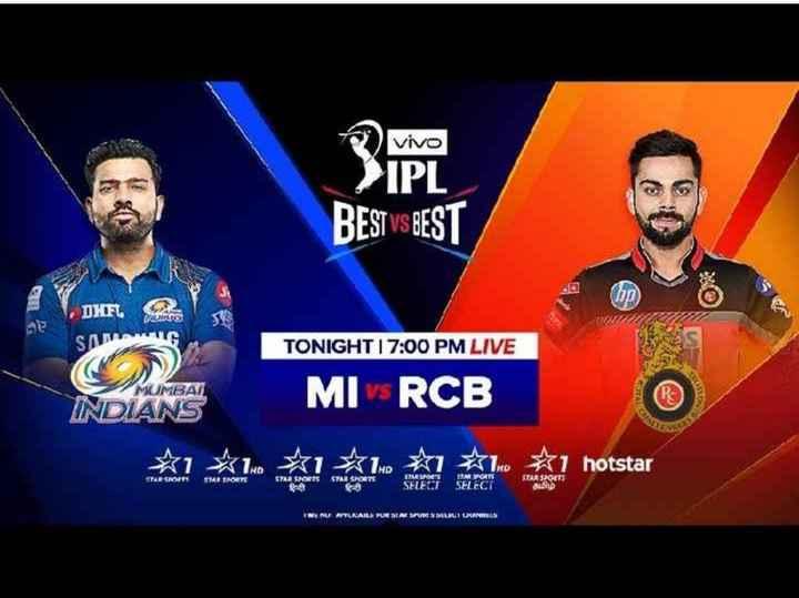 🏏RCB vs MI - Vivo SIPI BEST VS BEST DIFL SAMANG TONIGHT I 7 : 00 PM LIVE MOMBAN INDIANS MI RCB * 1 * 1 . * * 1 hotstar 1910 MENU AITLARI KUEBLA SOURISDRLRT KARLS - ShareChat