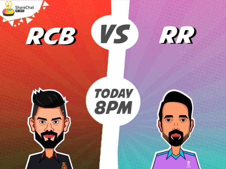 🏏 RCB vs RR 🏏 - ShareChat