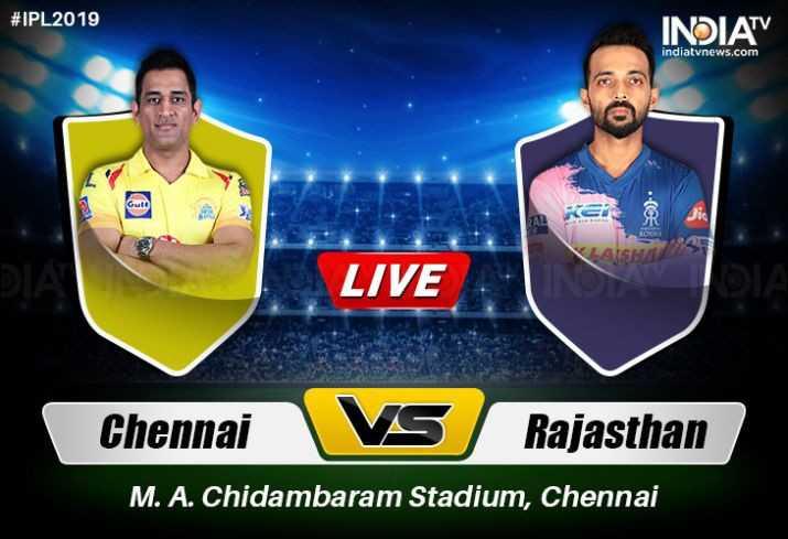 🏏RR 💙 vs CSK 💛 - # IPL2019 INDIA indiatvnews . com VAISME LIVE Chennai VS Rajasthan M . A . Chidambaram Stadium , Chennai - ShareChat