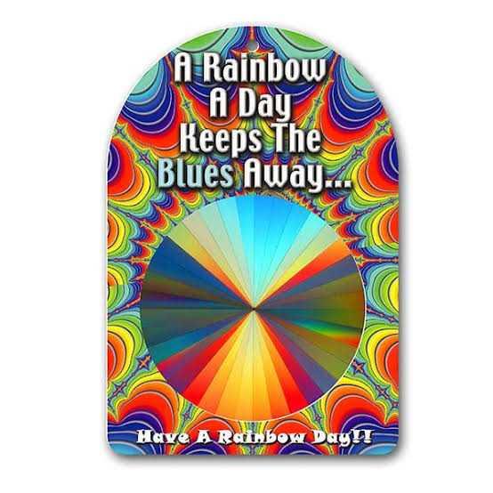 🌈Rainbow डे - A Rainbow A Day Keeps The Blues Away . . . Have A Rainbow Day ! - ShareChat