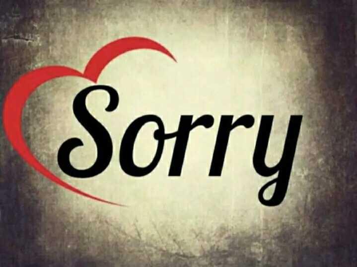 SORRY स्टेटस - Sorry - ShareChat