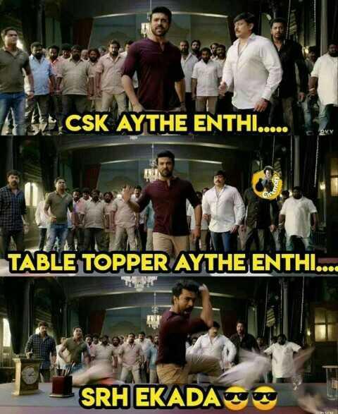 🏏 SRH vs CSK - A DECSK AYTHE ENTHI . . . . . TABLE TOPPER AYTHE ENTHI . . . . SRH EKADAS - ShareChat
