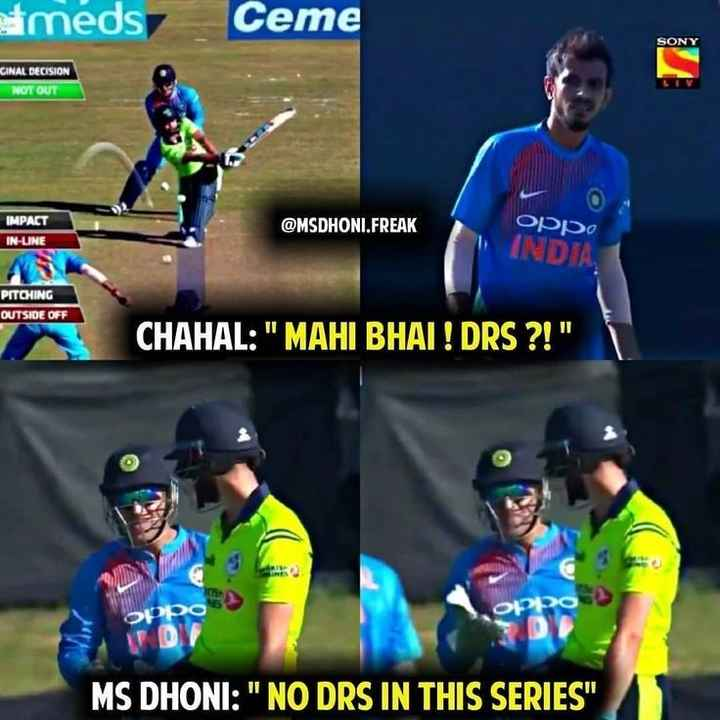 🏏 SRH 🔶 vs DC 🔷 - meds Ceme SONY GINAL DECISION NOT OUT IMPACT IN - UNE @ MSDHONI . FREAK Oppo INDJA PITCHING OUTSIDE OFF CHAHAL : MAHI BHAI ! DRS ? ! OP Olo MS DHONI : NO DRS IN THIS SERIES - ShareChat