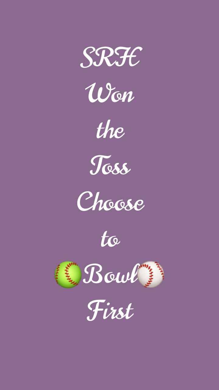 🏏SRH vs KKR - SRH Won the Toss Choose to Bowl ) First - ShareChat