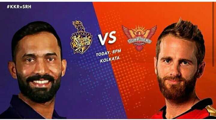 🏏 SRH 🔶 vs KKR 🖤 - # KKRVSRH VS SUNRISERS TODAY , 8PM KOLKATA - ShareChat