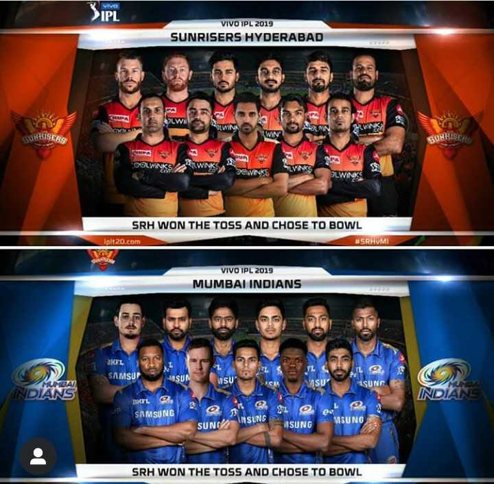 🔶 SRH vs MI 🔵 : 6 એપ્રિલ - Vivo > IPL VIVO IPL 2019 SUNRISERS HYDERABAD ma SWISWA SPPA A WIN ' SUNRISER SUNRISER DOWS PWKS , SRH WON THE TOSS AND CHOSE TO BOWL iplt20 . com # SRHUMI VIVO IPL 2019 MUMBAI INDIANS KEL SAMSUN SUN VISU 1SUNG DHL SAMSUNG 31 . MSUNG INSUNG SUND MSUNG SRH WON THE TOSS AND CHOSE TO BOWL - ShareChat
