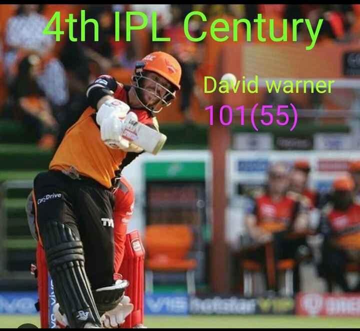 🏏SRH vs RCB - 4th IPL Century David Warner 101 ( 55 ) can Drive AOA - ShareChat