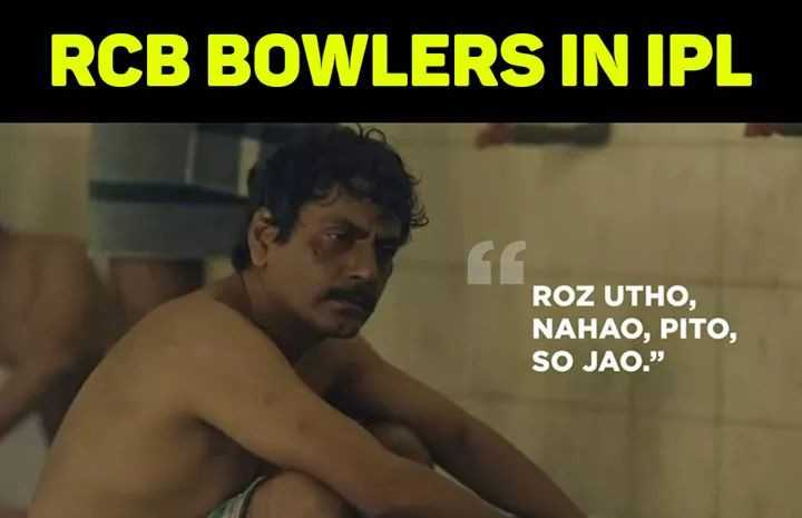 🔶 SRH vs RCB 🔴 - RCB BOWLERS IN IPL ROZ UTHO , NAHAO , PITO , SO JAO . - ShareChat