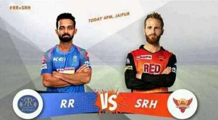 SRH vs RR - TODAY 4PM . JAIPUR on RED QRS O RR RR VSSRH SRH LOYALS - ShareChat