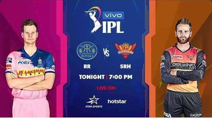 SRH vs RR - vivo > IPL CLUB BIRCHLE AMPA COOLWINKS WK LAKSHMI RR SRH TONIGHT 7 : 00 PM LIVE ON ☆ hotstar STAR SPORTS Car Drive - ShareChat