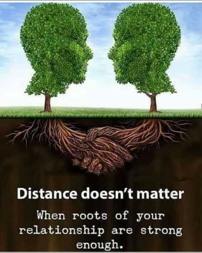 📝 Shayari Of The Day 🎵 - Distance doesn ' t matter When roots of your relationship are strong enough . - ShareChat