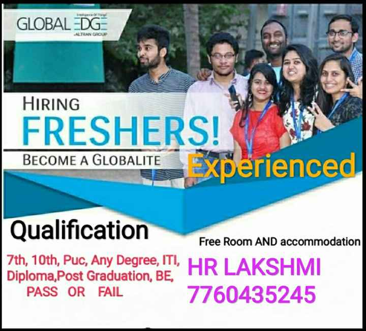 😢 Sorry ಬೇಬಿ - GLOBAL DG ALTRAN GROUP HIRING FRESHERS ! BECOME A GLOBALITE experienced Qualification Free Room AND accommodation 7th , 10th , Puc , Any Degree , ITI , Diploma , Post Graduation , BE , PASS OR FAIL 7760435245 HMI - ShareChat