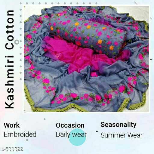 👰 Stitching and Design - Kashmiri Cotton Work Oca Occasion Seasonality Daily wear ' Summer Wear Embroided 5 - 530322 - ShareChat