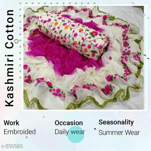 👰 Stitching and Design - Kashmiri Cotton Work Embroided Occasion Seasonality Daily wear ' Summer Wear 5 - 530323 - ShareChat