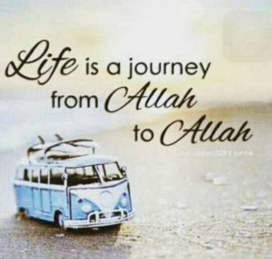 TYPO graphy - Life is a journey from Allah to Allah - ShareChat