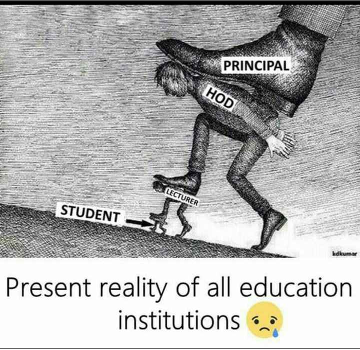Teacher-Student - PRINCIPAL HOD LECTURER STUDENT kdkums Present reality of all education institutions - ShareChat