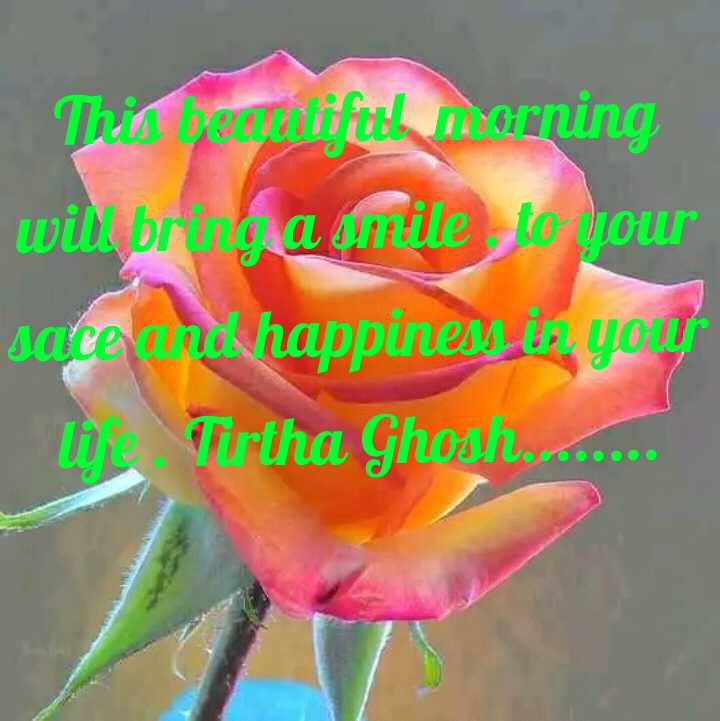 Tirtha Ghosh  - This bouifuth horning will bring a mile to pour sarce how happiness you ! the Tirtha Ghoan . . . . - ShareChat