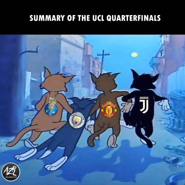 ⚽  UEFA Champions League - SUMMARY OF THE UCL QUARTERFINALS JUVENTUS CHES TESTER MANO CHES MANC UNITED STER CITY AZ ORGANIZATION - ShareChat