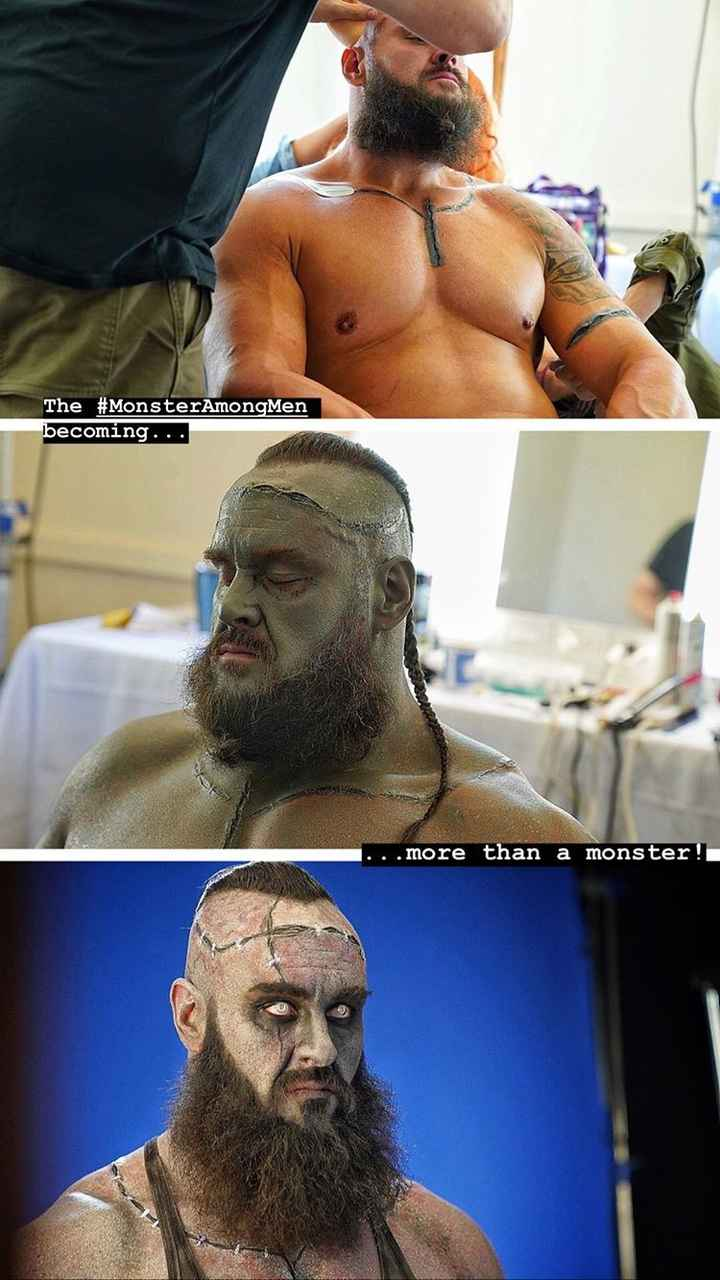 👊 WWE 👊 - The # MonsterAmongMen becoming . . . . more than a monster ! - ShareChat