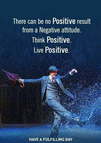 Wednesday Wisdom - There can be no Positive result from a Negative attitude . Think Positive Live Positive . HAVE A FULFILLING DAY - ShareChat