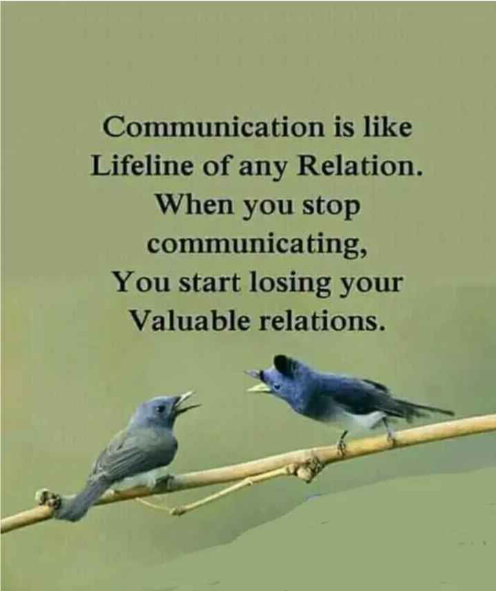 🎭Whatsapp status - Communication is like Lifeline of any Relation . When you stop communicating , You start losing your Valuable relations . - ShareChat