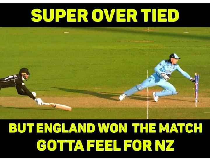 🔴World Cup Final Live - SUPER OVER TIED BUT ENGLAND WON THE MATCH GOTTA FEEL FOR NZ - ShareChat