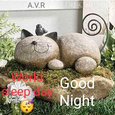 World Sleep Day - A . V . R a Good Night - ShareChat