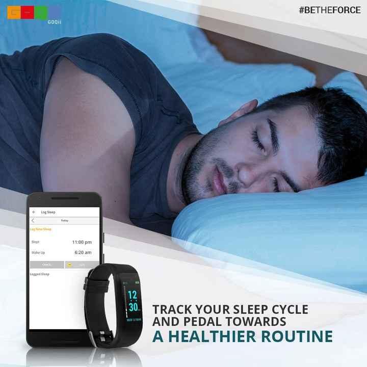 😴 World Sleep Day - # BETHEFORCE GOQI 11 Log Sleep Today Log New Sleep Slept 11 : 00 pm Wake Up 6 : 20 am CANCEL - 2016 Logged Sleep MON 12 MAR TRACK YOUR SLEEP CYCLE AND PEDAL TOWARDS A HEALTHIER ROUTINE - ShareChat