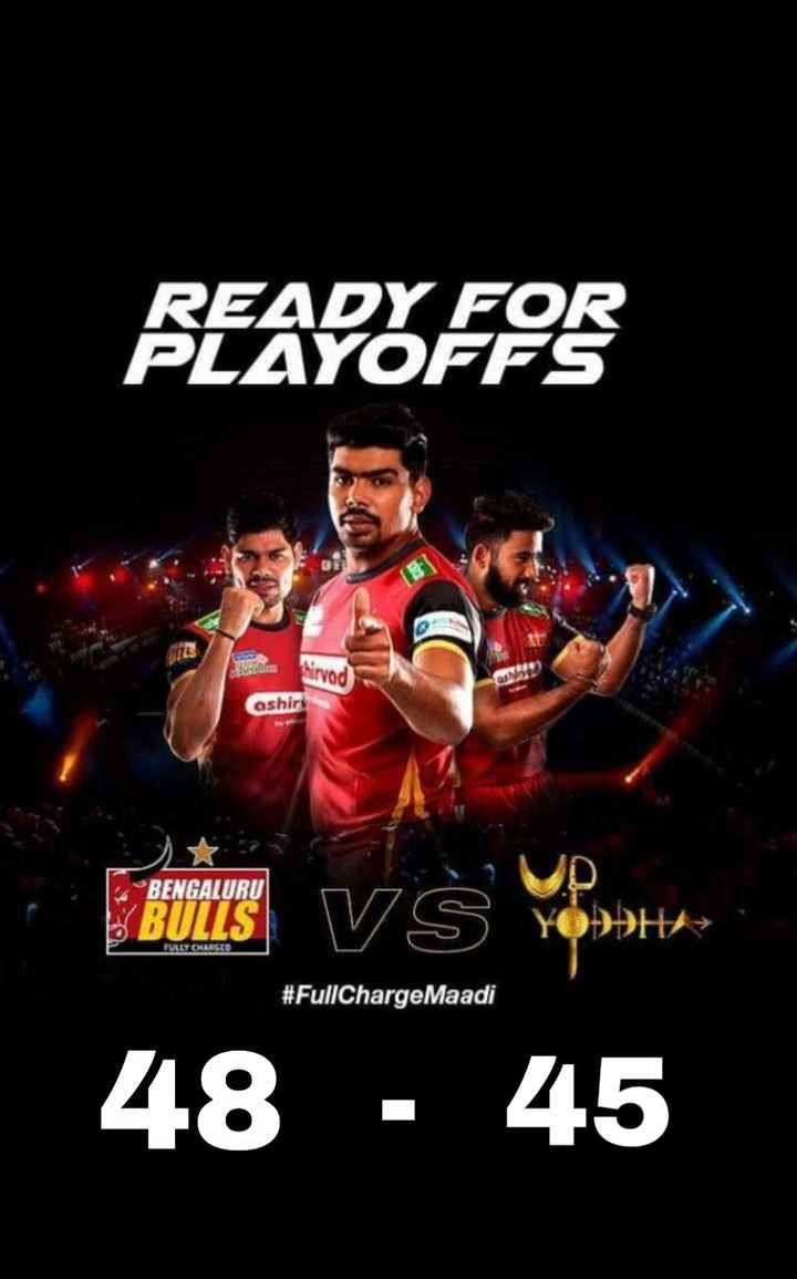 🤴Yash - READY FOR PLAYOFFS hirvad ashiry FULLY CHARGEO EULES VS Yttes 48 - 45 # FullCharge Maadi - ShareChat