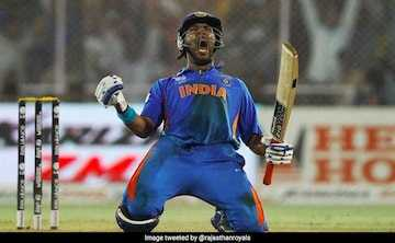 🏏 Yuvi ने कहा अलविदा 😧 - INDIA A . Image tweeted by rajasthangal - ShareChat