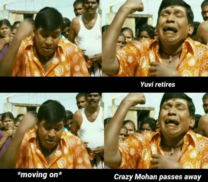 Yuvraj singh - Yuvi retires * moving on * Crazy Mohan passes away - ShareChat