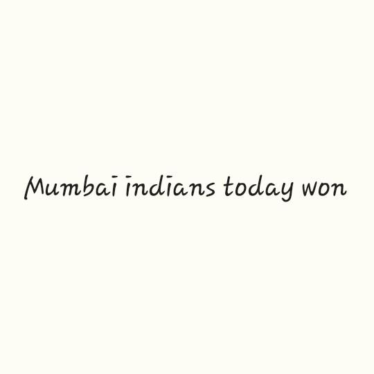 🔴 RCB vs MI 🔵 - Mumbai indians today won - ShareChat
