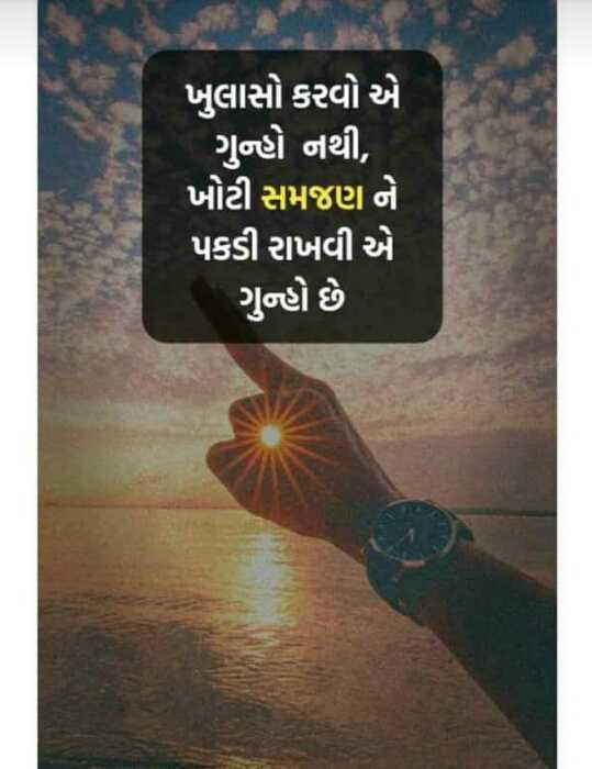 #aaj ka gyan - ખુલાસો કરવો એ ગુન્હો નથી , ખોટી સમજણ ને પકડી રાખવી એ ગુન્હો છે - ShareChat