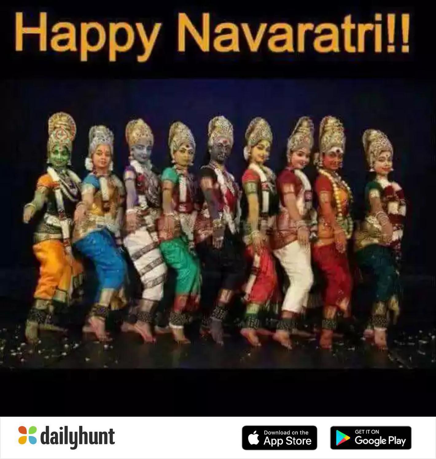 🔱ಶಕ್ತಿ ದೇವತೆಗಳ ಹೆಸರು - Happy Navaratri ! ! GET IT ON % dailyhunt Download on the App Store Google Play - ShareChat
