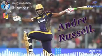 KKR vs RR - NP ಪೋಸ್ಟ್ ಮಾಡಿದವರು ; @ nagarajupints Creations Share VOKIA Andre Russell . Made with VideoShow ಪೋಸ್ಟ್ ಮಾಡಿದವರು ; @ nagarajupintu NP Creations LLL Poste Strecha VOKIA Andre , Russell Made with VideoShow - ShareChat