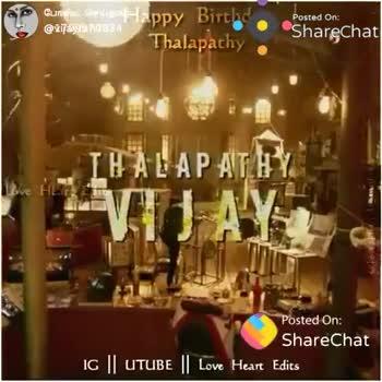 🎂HBD விஜய் - Currotul . Arus : aap Biric @ lijasta 0834 Thai pachy Posted on Sharechat Sve IG | UTUBE Love Heart Edits ShareChat Rowdy baby vijayfan7374 No inbox chating Follow - ShareChat
