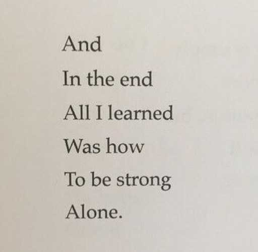 alone - And In the end All I learned Was how To be strong Alone . - ShareChat